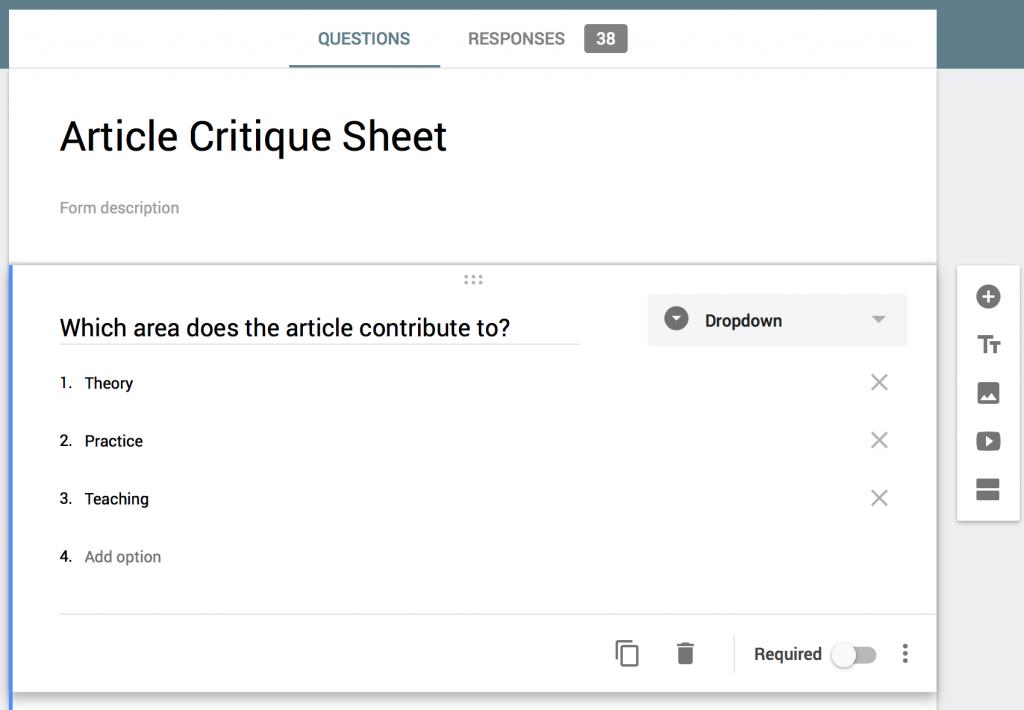 Using Google Forms for Literature Reviews – Juniper Katz