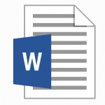 Icon for Microsoft Word File